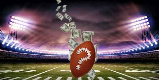 Gambling addiction football and money in stadium