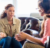 sober woman receiving outpatient treatment for addiction