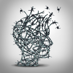 image depicting the relationship between fear and addiction
