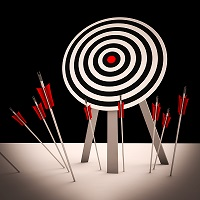 image of a missed target to symbolize addiction treatment missing its goals